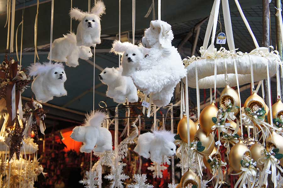 Salzburg, Christkindlmarkt, Eisbaeren