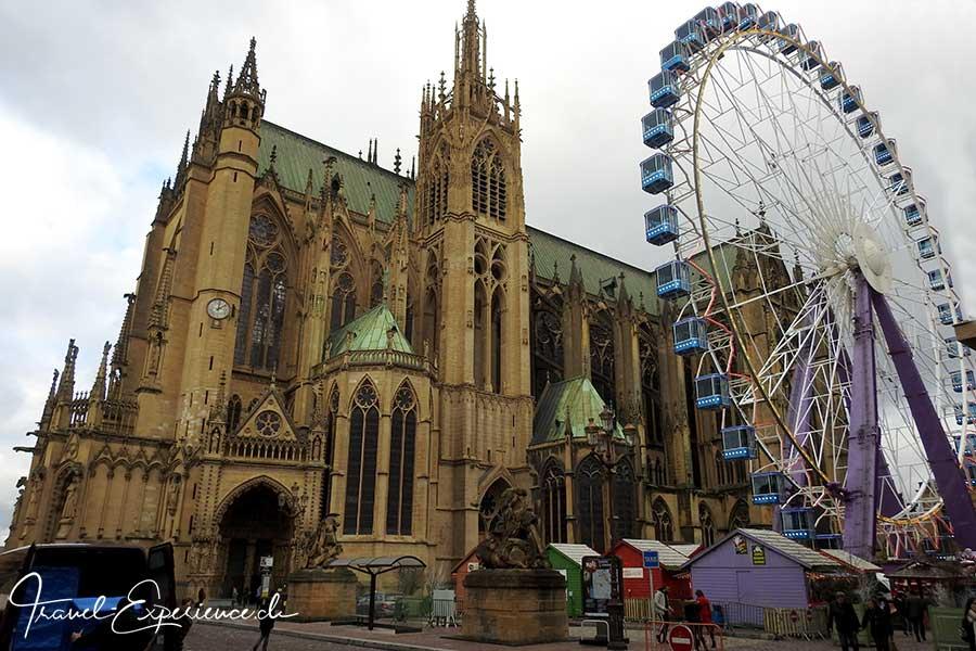Advent, Flussfahrt, Metz, Weihnachtsmarkt, Kathedrale, Riesenrad