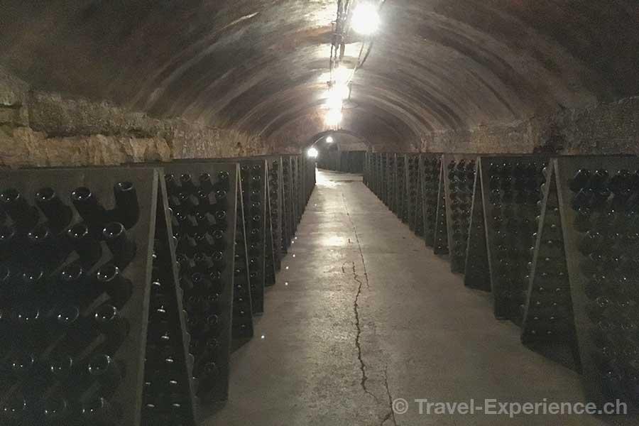 Luxemburg, Remich, Caves du Saint Martin, Gewoelbe