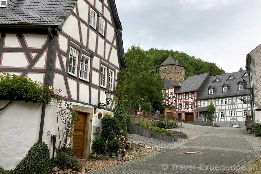 Deutschland, Rheinland-Pfalz, Idar-Oberstein, Deutsche Edelsteinstrasse, Herrstein, Riegelhaeuser