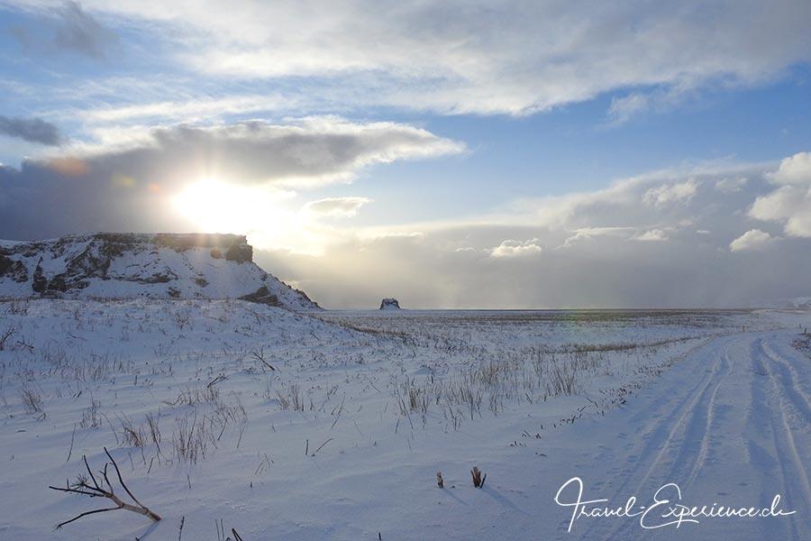 Island, Iceland, Winter, Suedkueste, Landschaft, Vik,