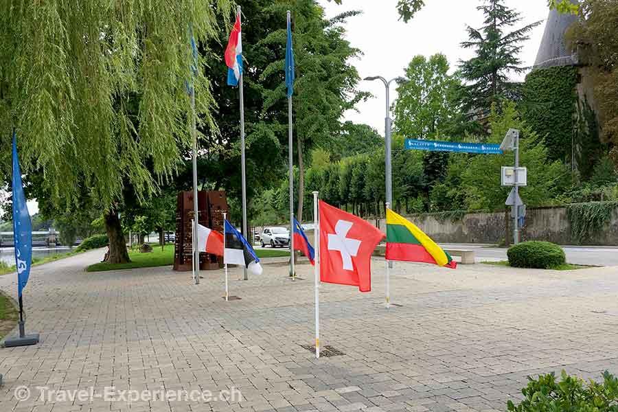 Luxemburg, Schengen, Beflaggung, Fahnen, Schweizer Flagge