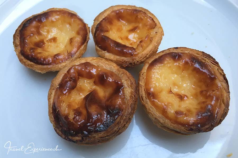 Pasteis de Belem, auch Pastel de Nata, aus der Konditorei Pasteis de Belem in Belem, Portugal