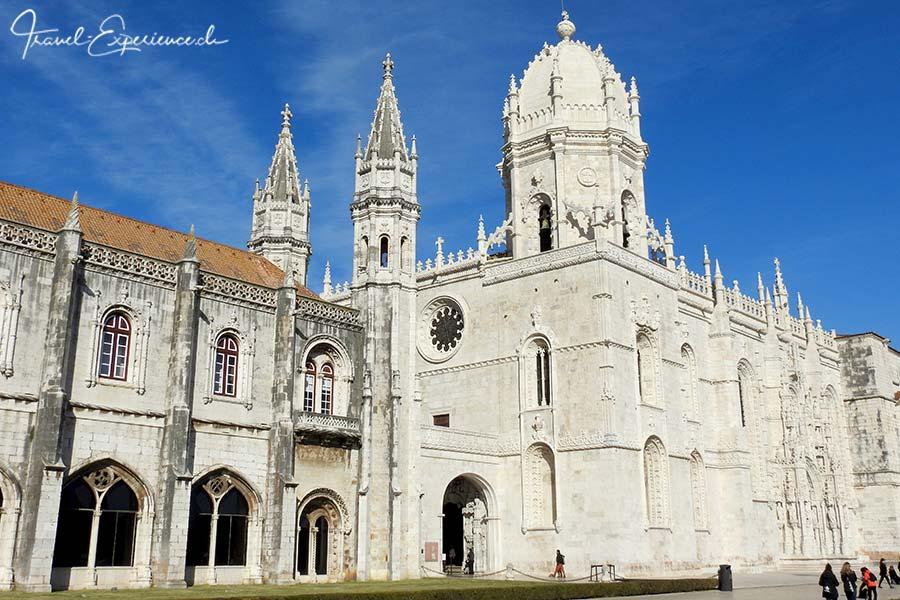 Die Fassade des Mosteiro des Jeronimos, des Klosters in Belem, Portugal