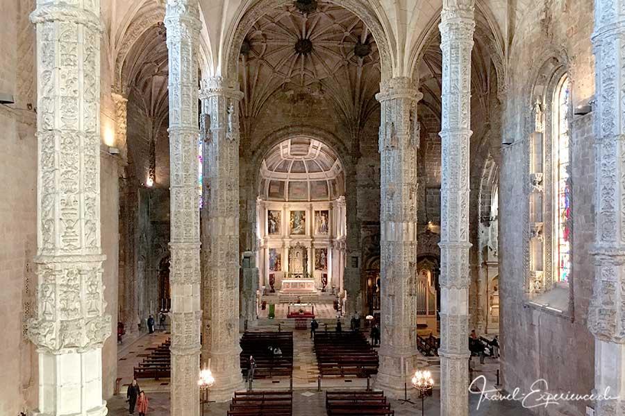Die Klosterkirche des Mosteiro des Jeronimos in Belem, Portugal