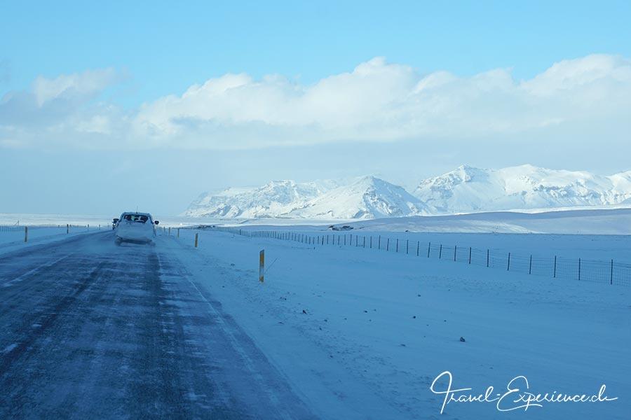 Island, Iceland, Winter, Strasse, Suedkueste,