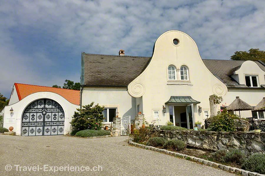oesterreich, burgenland, neusiedler see, purbach, restaurant kloster am spitz, aussen