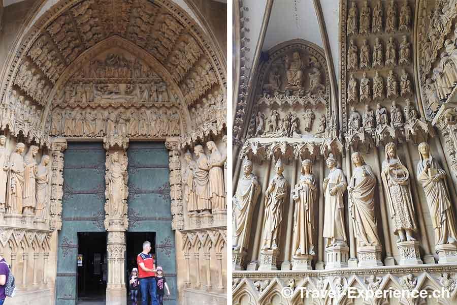 Frankreich, Metz, Kathedrale, Portal, Steinmetzarbeiten