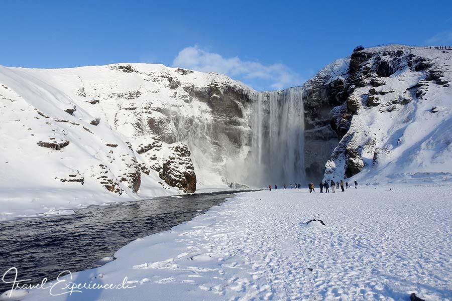Island, Iceland, Winter, Suedkueste, Skogafoss, Wasserfall, waterfall