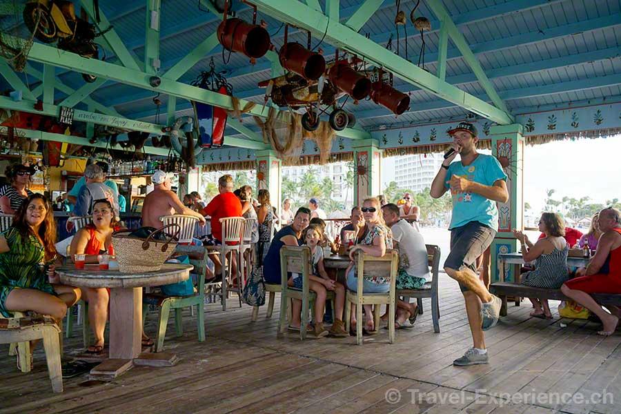 Karibik, Aruba, Beachbar, Bugaloe, Happy hour