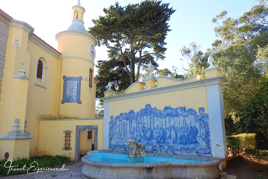 Azulejos, Kacheln, im Museu Condes de Castro Guimaraes in Cascais, Portugal