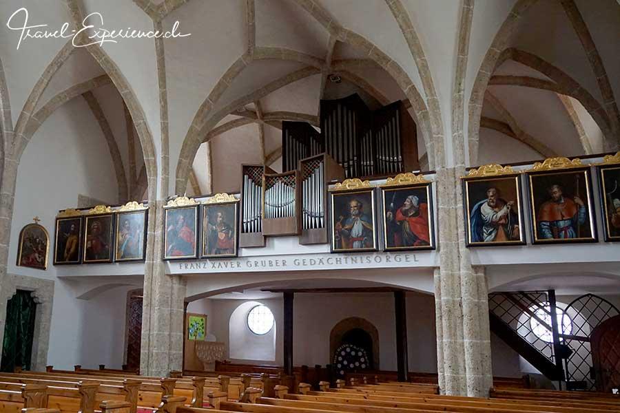 Franz Xaver Gruber, Stille Nacht Heilige Nacht, Hochburg Ach, Kirche, Gedaechtnisorgel