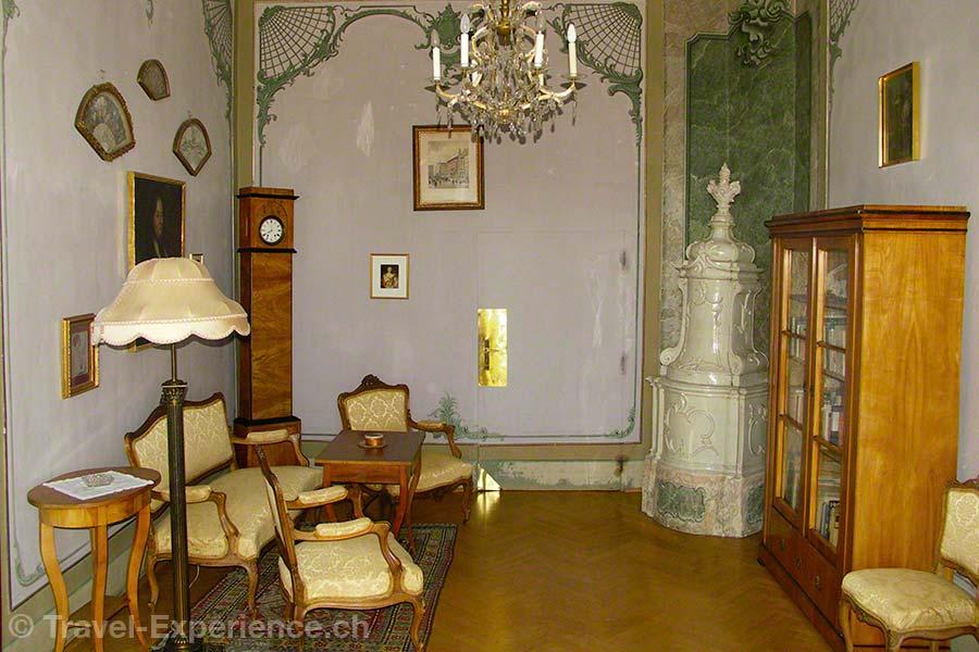 Oesterreich, Burgenland, Burg Bernstein, Prinzessin-Suite, Esterhazy, Salon