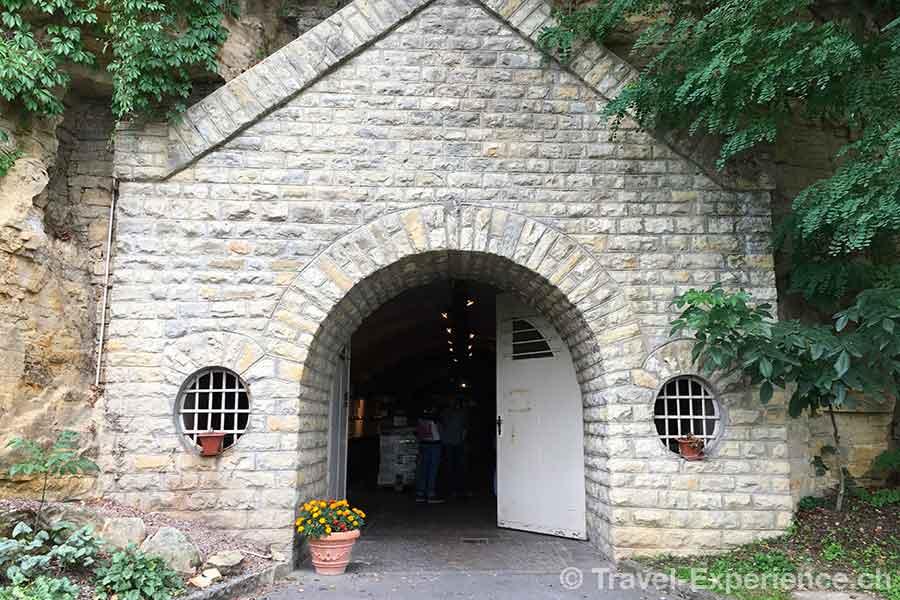 Luxemburg, Remich, Eingang, Weinkeller, Gewoelbe, Caves du Saint Martin