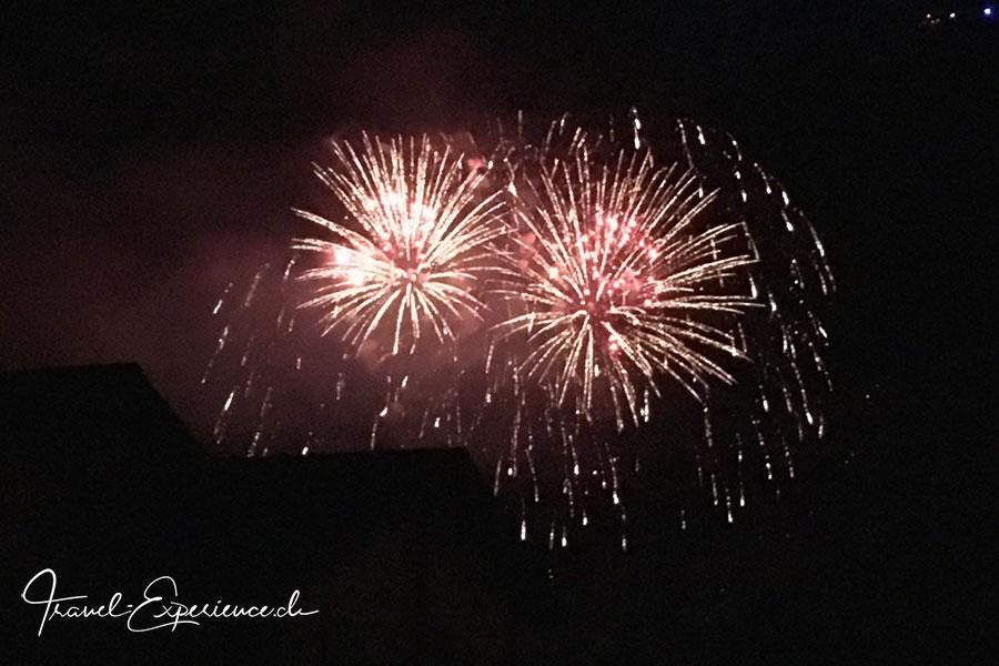 Schweiz, Wallis, Leukerbad, 1.-August, erster August, Nationalfeiertag, Feuerwerk