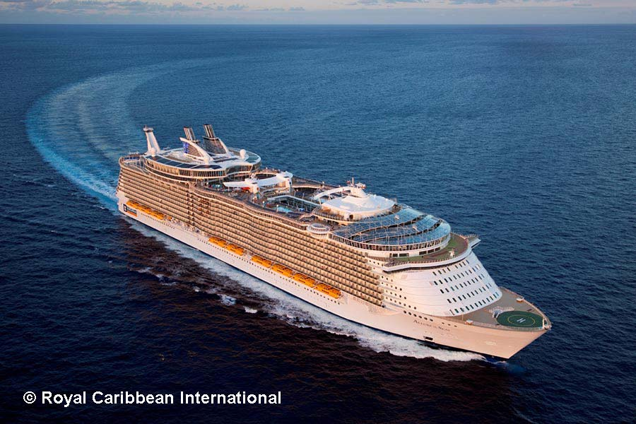 Allure of the Seas, Royal Caribbean, Aussenansicht