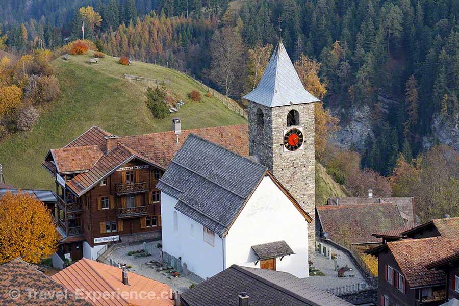 Schweiz, Graubünden, Tschiertschen, Kirche, Peter Zinsli, Schwyzerörgeli