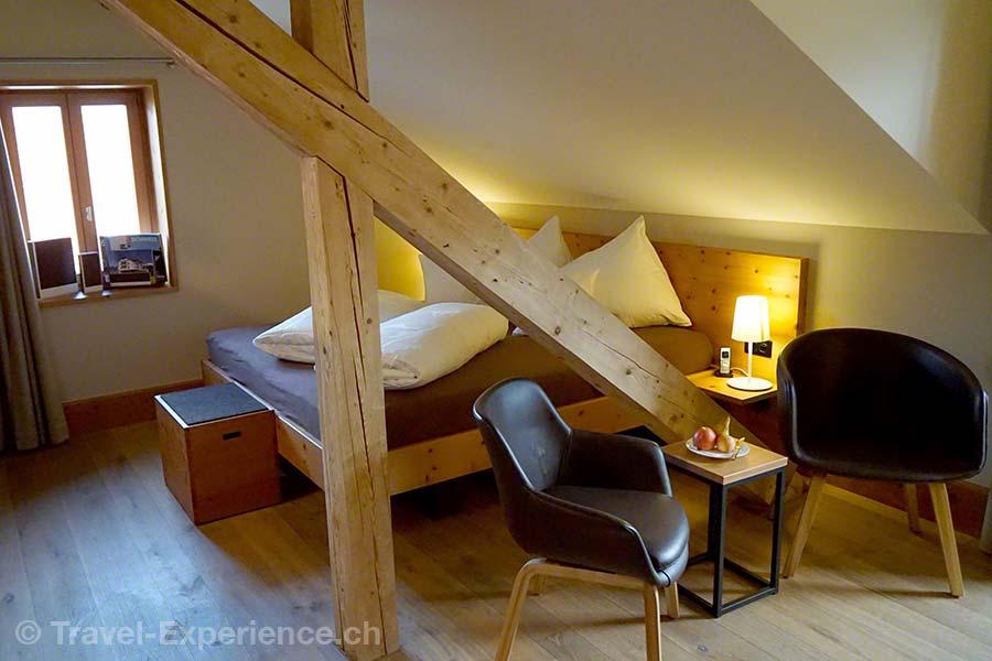 Schweiz, Tschiertschen, Alpina Mountain Resort & Spa, Suite, unterm Dach