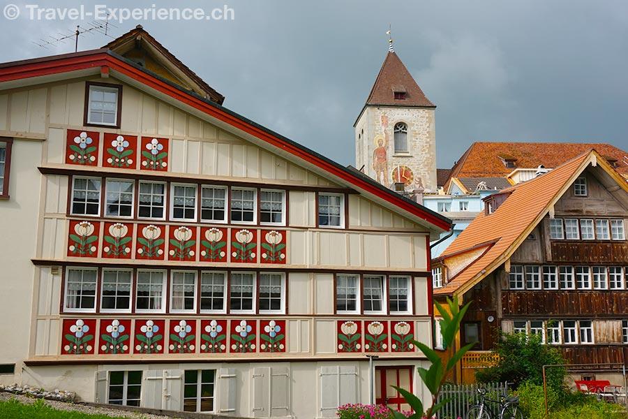 Appenzell, alte Häuser