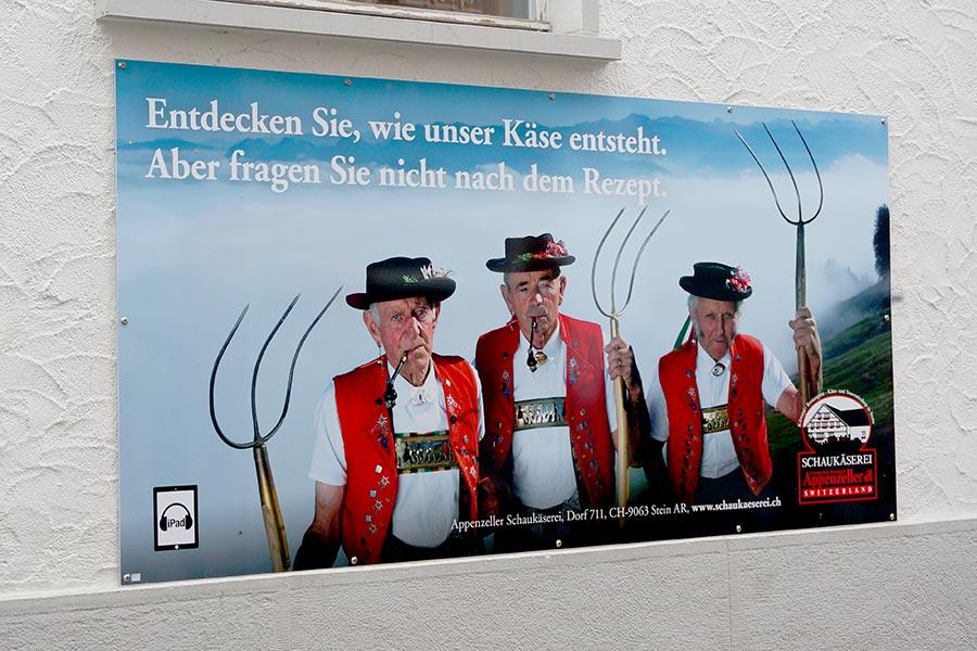 Appenzell, Käse, Werbung