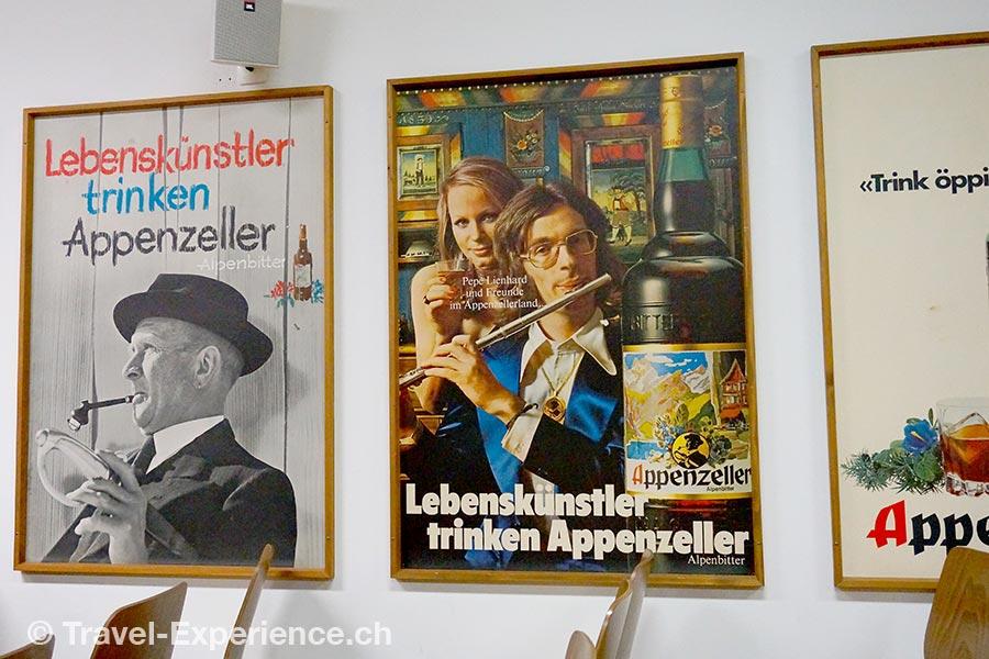 Appenzell, Alpenbitter, Werbung, Pepe Lienhard
