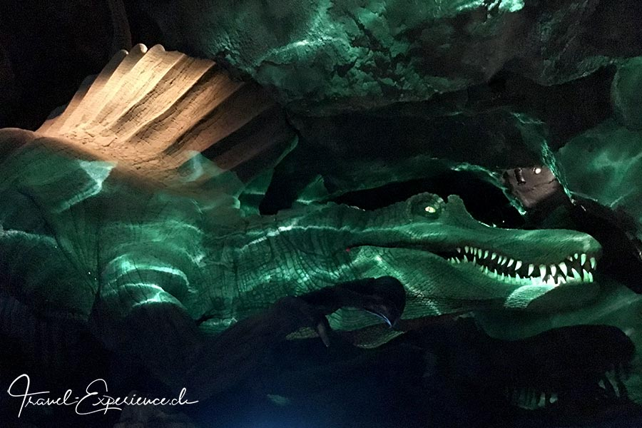 Schweiz, Lausanne, Aquatis, Aquarium, Vivarium, spinosaurus