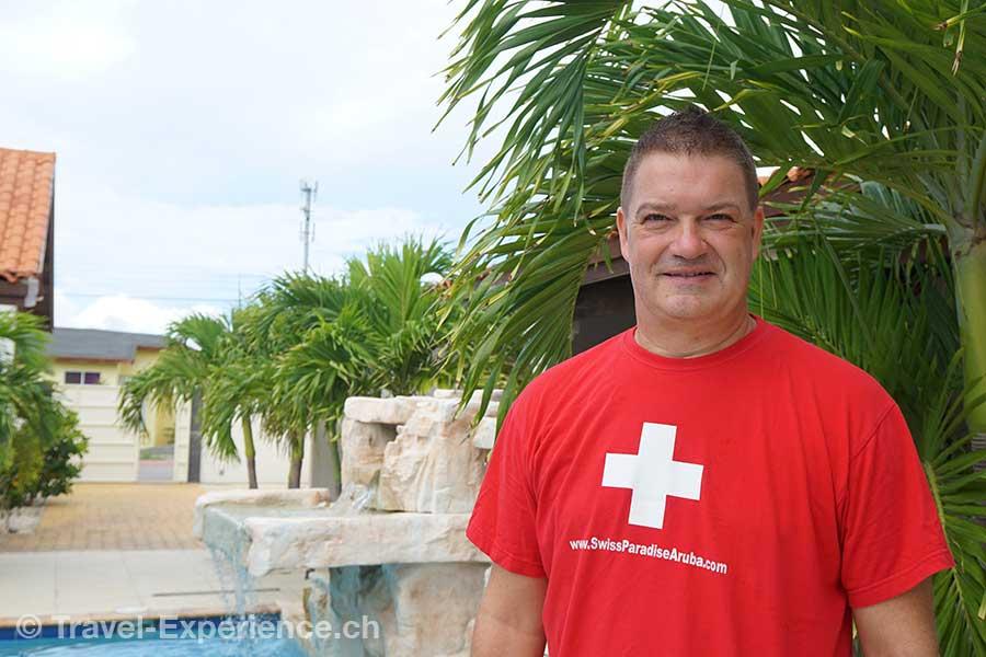 Karibik, Aruba, Juerg Braendli, owner, swiss paradise aruba