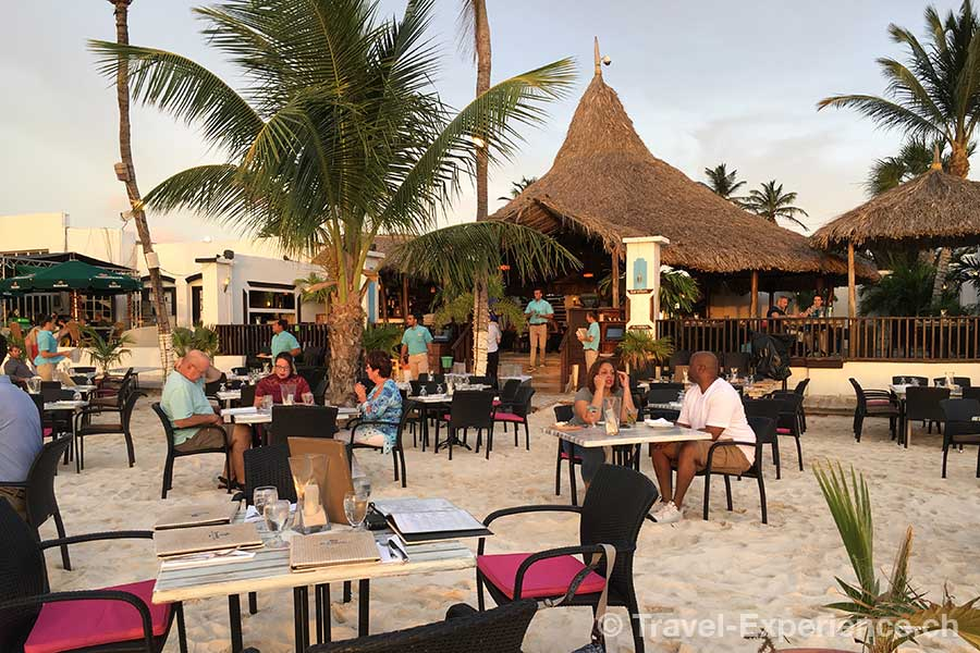 Karibik, Aruba, Restaurant Barefoot