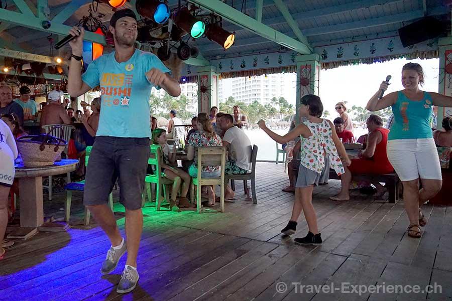 Karibik, Aruba, Bugaloe Beach Bar Grill