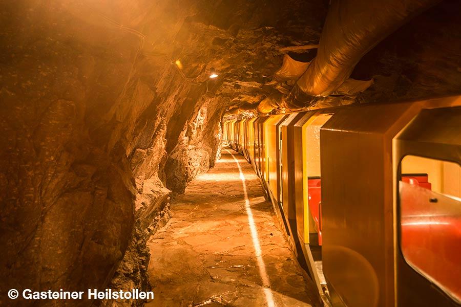 oesterreich, Bad Gastein, Gasteiner Heilstollen, Stollenbahn, Haltestelle, Station,