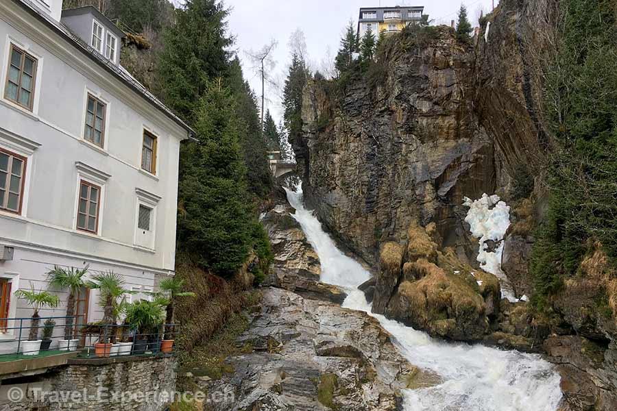 oesterreich, Bad Gastein, Kurort, Wasserfall