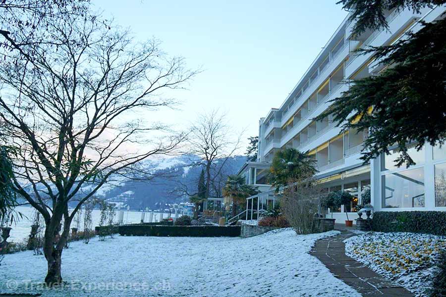 Merligen, Wellness Spa Hotel Beatus, Morgenstimmung, Garten
