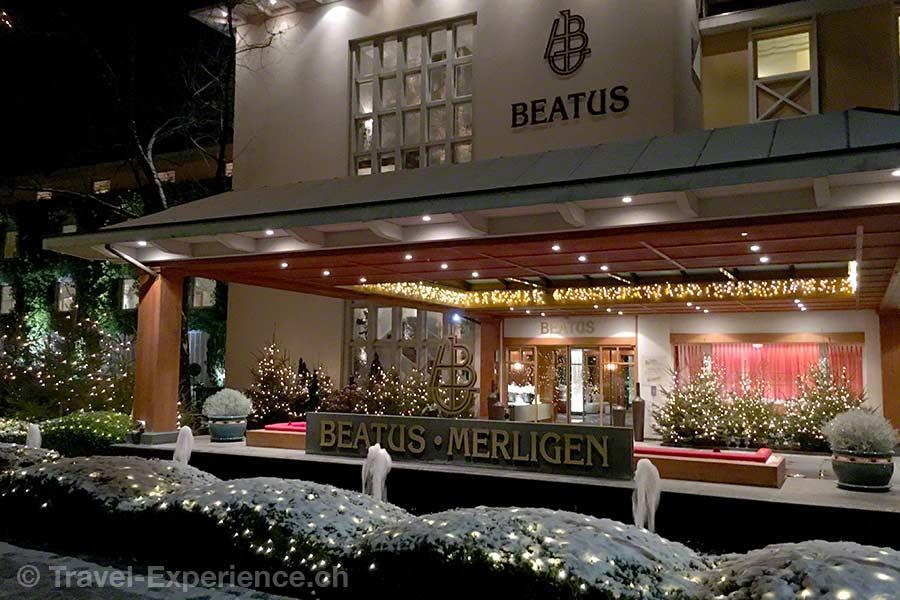 Merligen, Wellness Spa Hotel Beatus, Eingang
