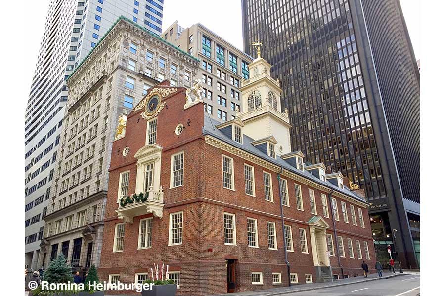 Boston, Massachusetts, Old State House, Verwaltungsgebäude, historisch