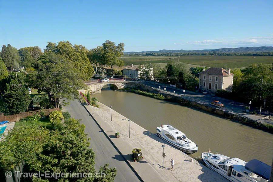 Frankreich, Canal du Midi, Hausboot, Ventenac en Minervois