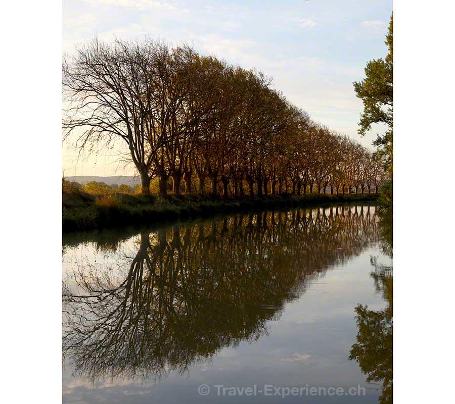 Frankreich, Canal du Midi, Morgenstimmung, Ventenac en Minervois