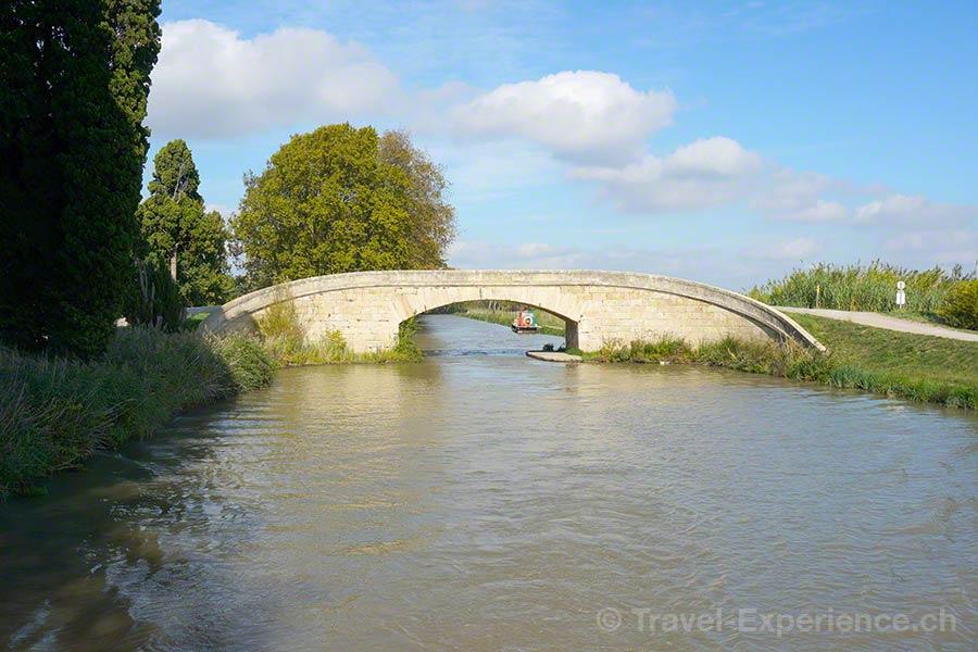 Frankreich, Canal du Midi, Pont de Saint Rome