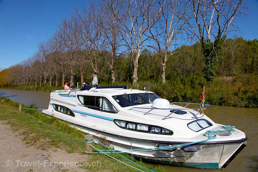 Frankreich, Canal du Midi, Hausboot, Pechlaurier