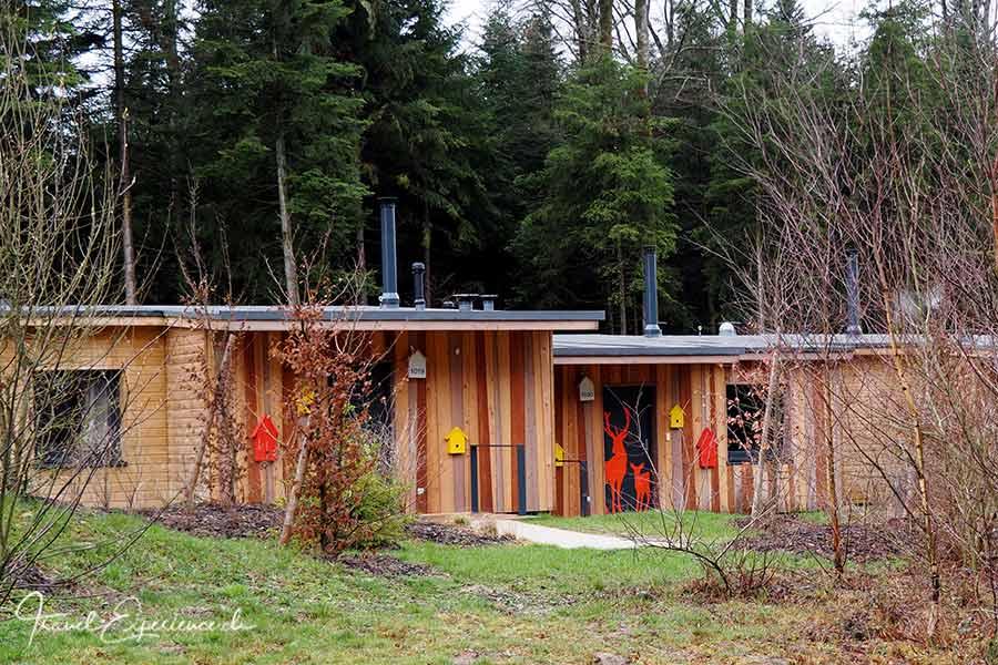Frankreich, Lothringen, Hattigny, Center Parcs Les Trois Forets, Themen Cottages, Waldtiere