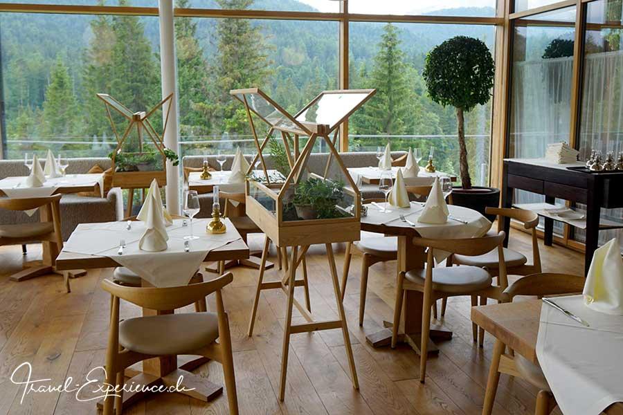 Deutschland, Bayern, Kruen, Das Kranzbach, Schloss, Wellnesshotel, Restaurant Green House