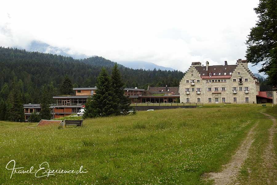 Deutschland, Bayern, Kruen, Das Kranzbach, Schloss, Wellnesshotel, Rueckseite
