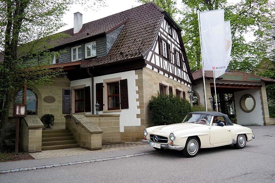 Schlosshotel Friedrichsruhe, Zweiflingen, Gourmetrestaurant, Oldtimer, Mercedes 190 SL 1961