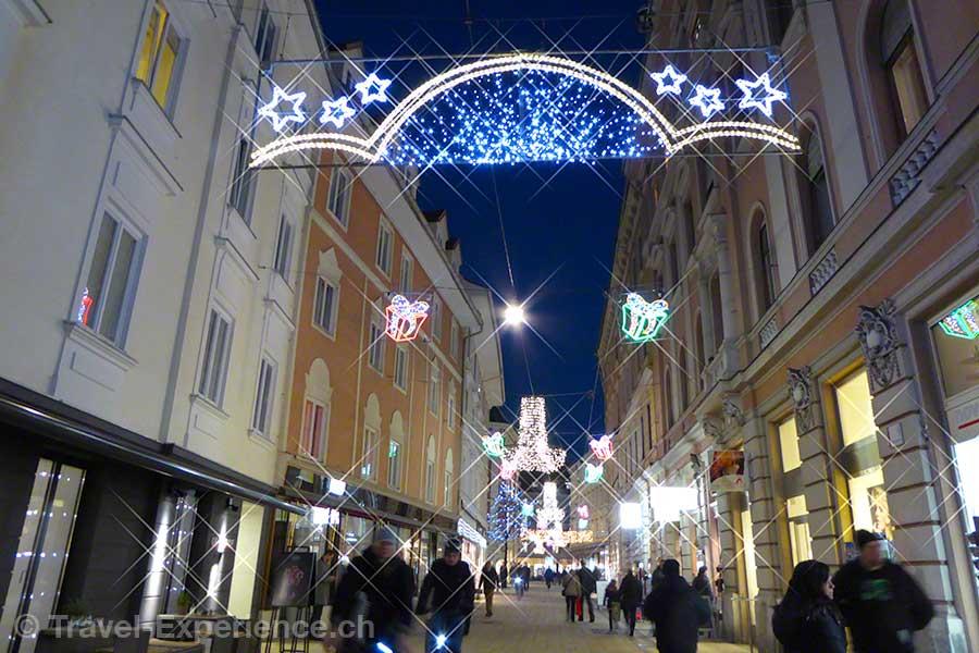 Österreich, Graz, Advent, Stubenberggasse, Weihnachtsbeleuchtung