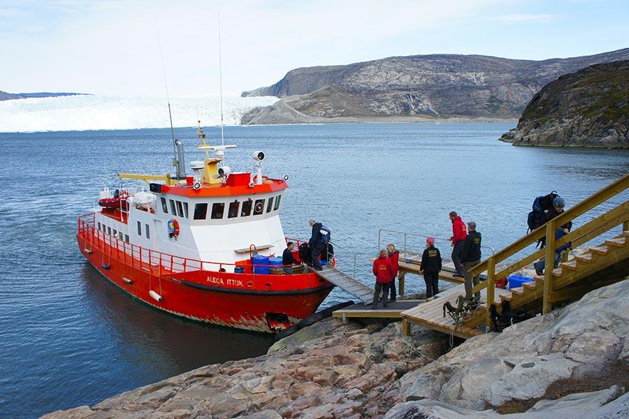 Groenland, Schiff, EqiCamp