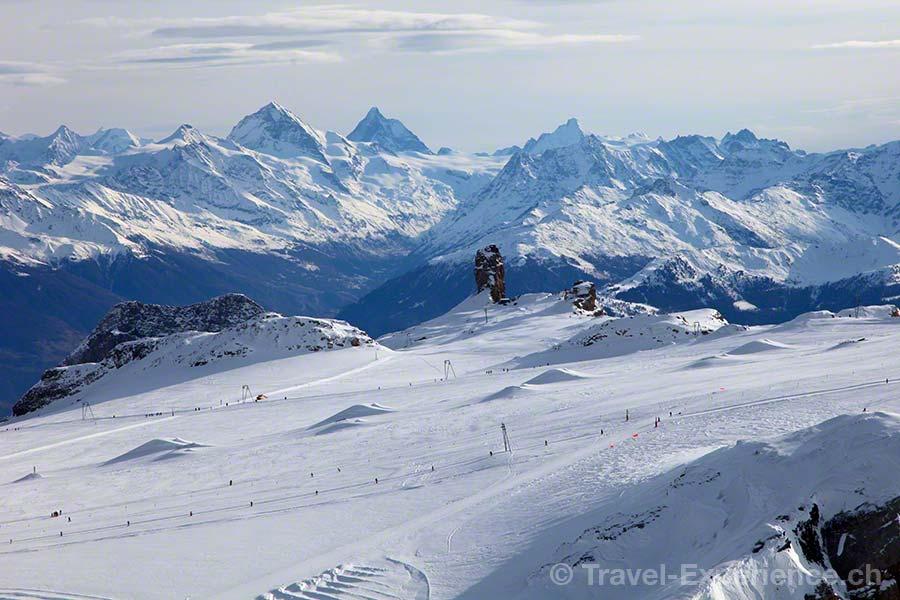 Gstaad, Glacier 3000, Skifahren, Pisten