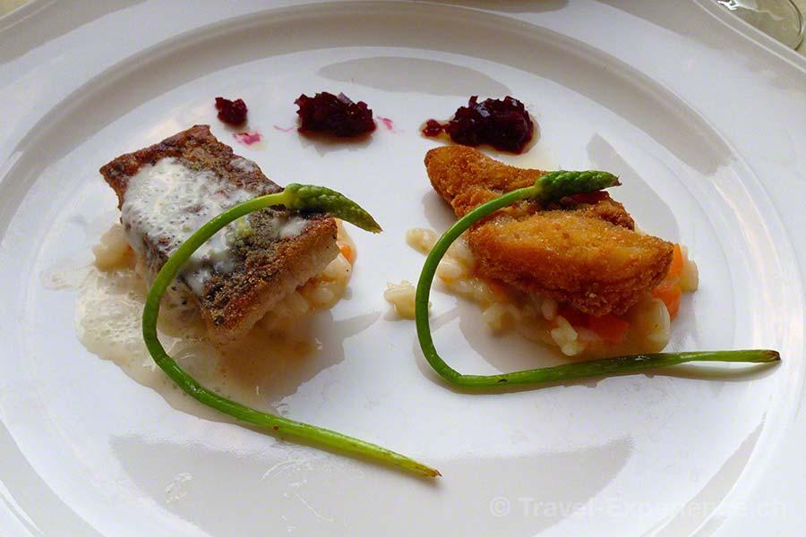Steiermark, Bad Radkersburg, Abendessen, leichte Küche, Karpfen, wilder Spargel