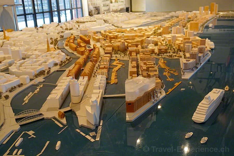 Hamburg, Kesselhaus, HafenCity, Modell