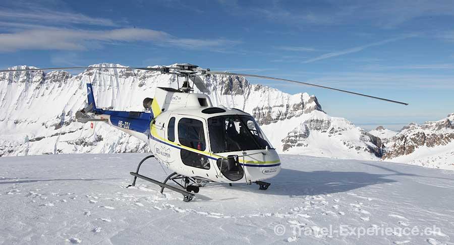 Berner Oberland, Helikopterflug, Petersgrat