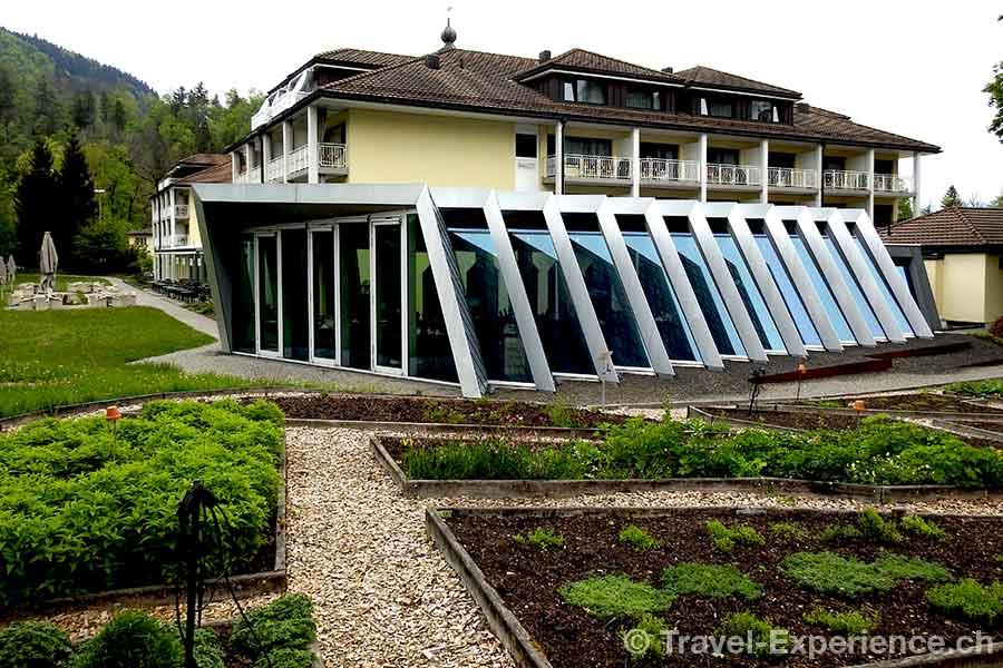 Appenzell, Hotel Hof Weissbad, Restaurant Flickflauder, aussen