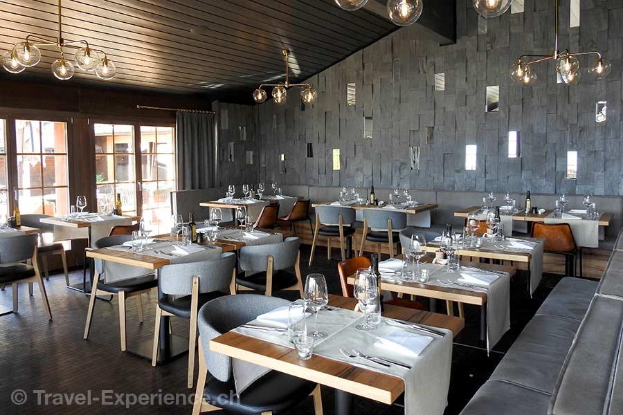 Schweiz, Saanen, Gstaad, Huus Hotel, Restaurant La Vue, à la carte